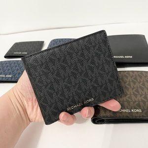 💯🆕MK Men wallet/PVC leather/black color🆕